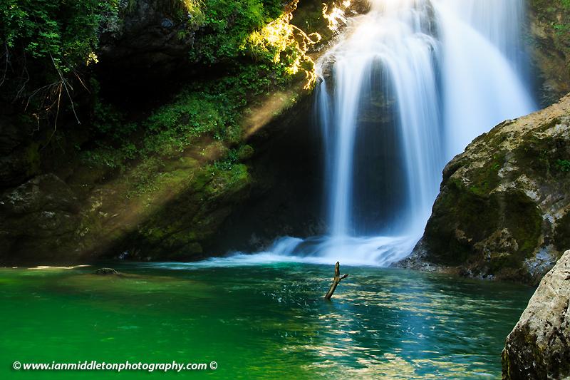 Sum Waterfall, Vintgar Gorge in Slovenia