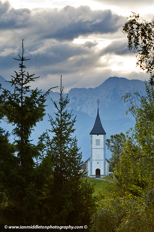 View from the layby of Jamnik Church