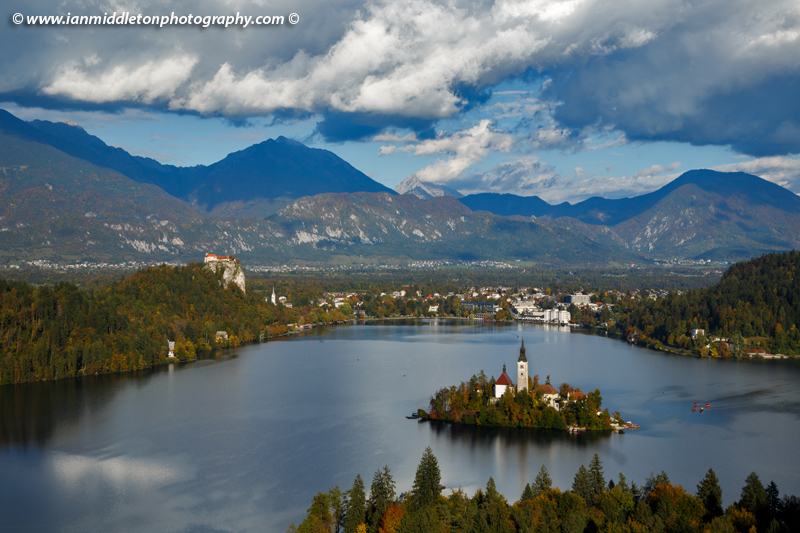Lake Bled without polarizing filter