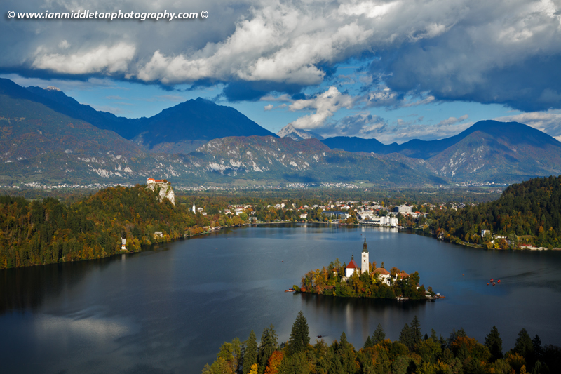 Lake Bled with polarizing filter