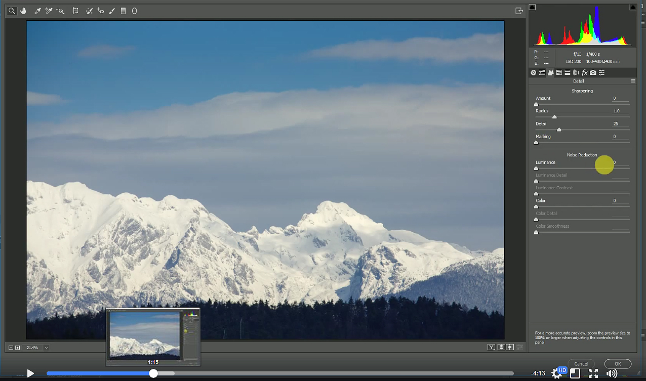 Photo sharpening using the sharpening mask took in Adobe Photoshop