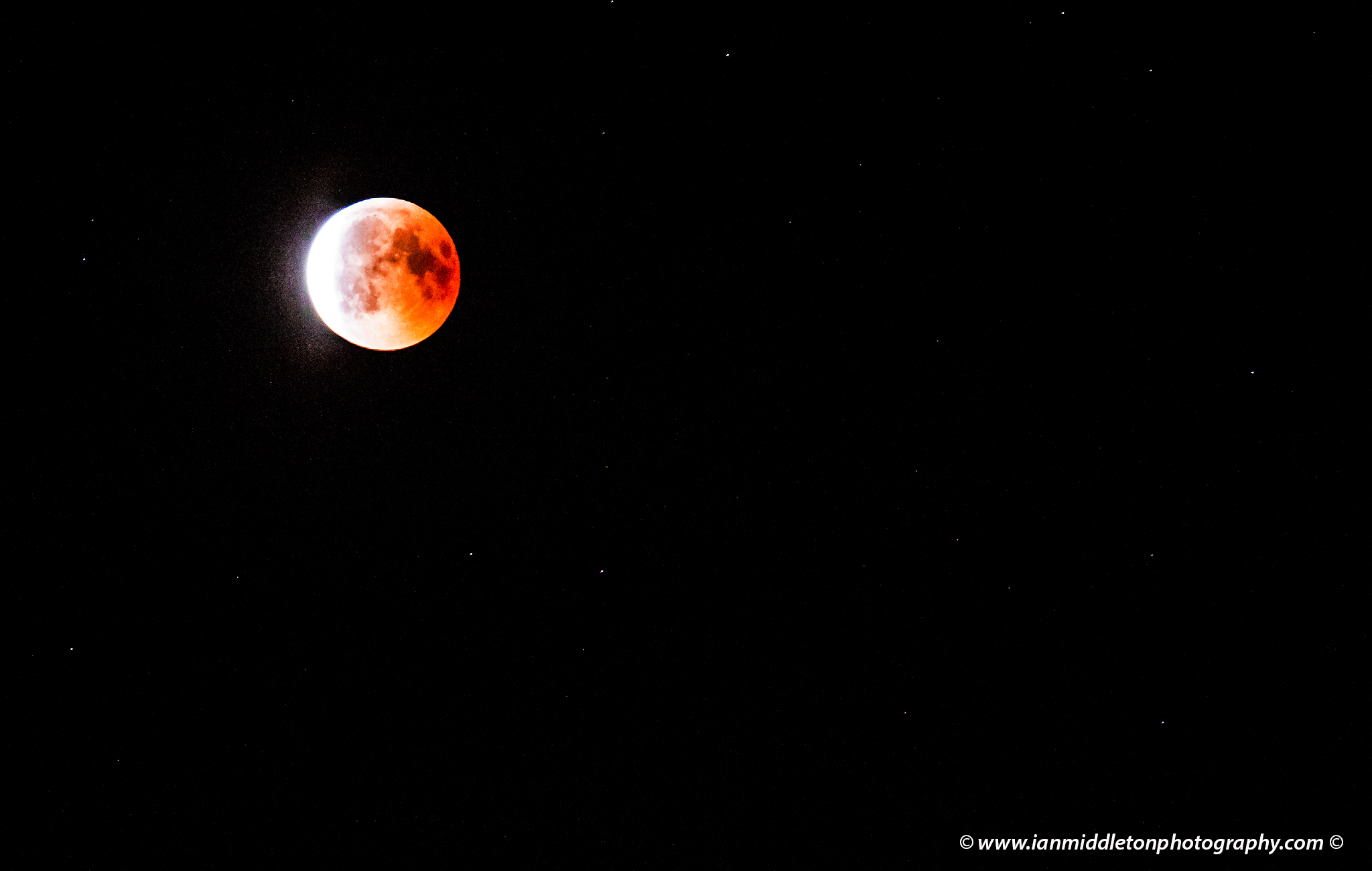 Full Blood Micro moon on July 27th 2018. This was the longest lunar eclipse this century, and it was also in opposition with the planet Mars.