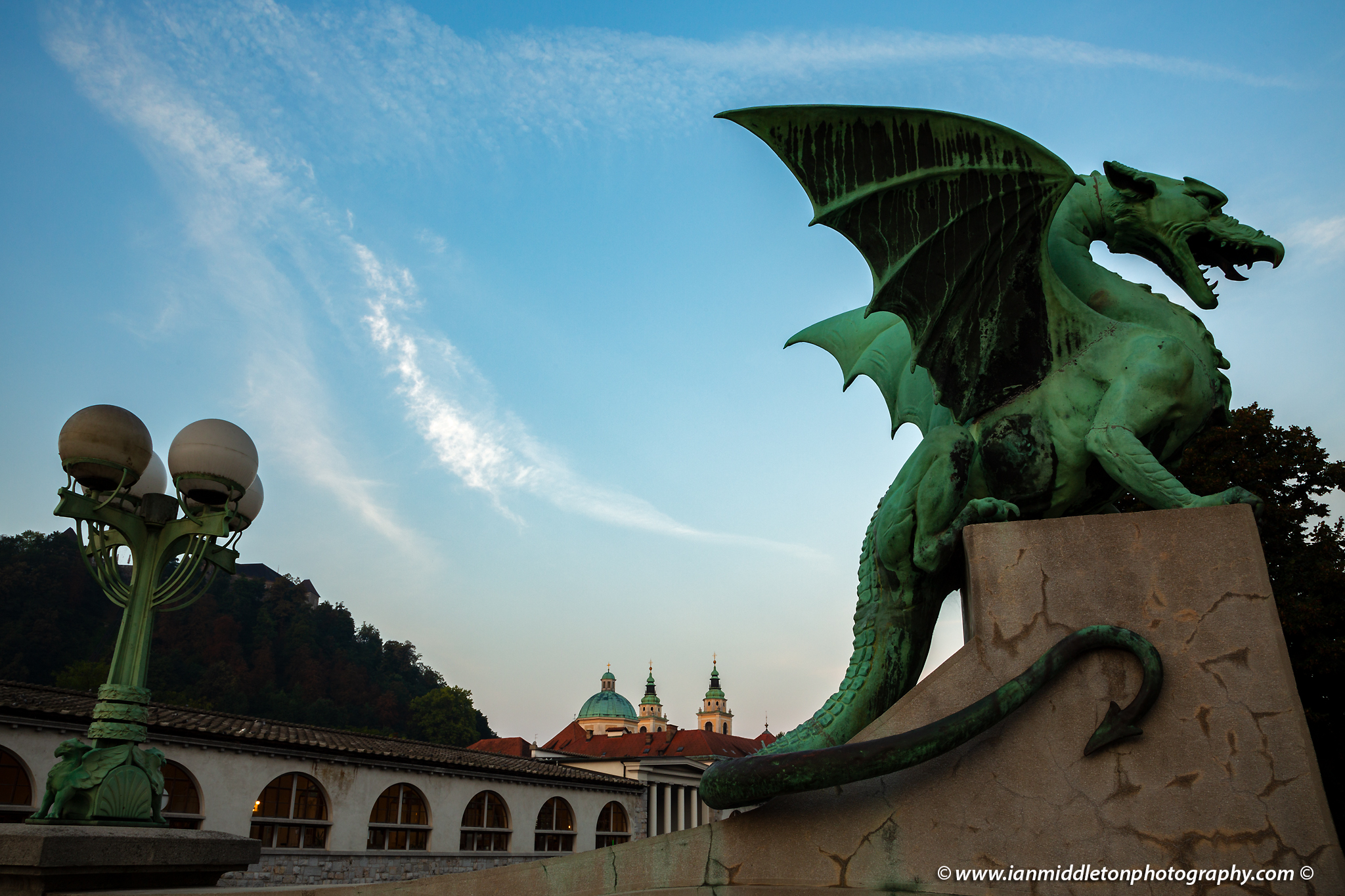 Dragon Bridge in Ljubljana, Slovenia.