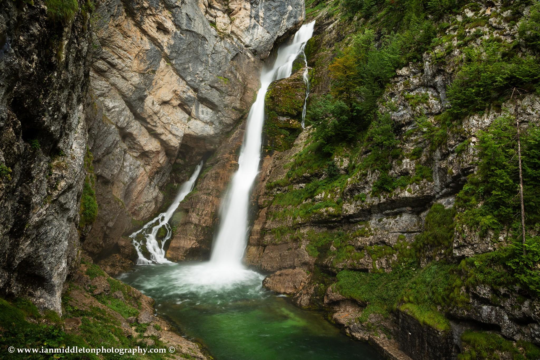 Savica waterfall, Triglav National Park, Bohinj Valley, Slovenia.