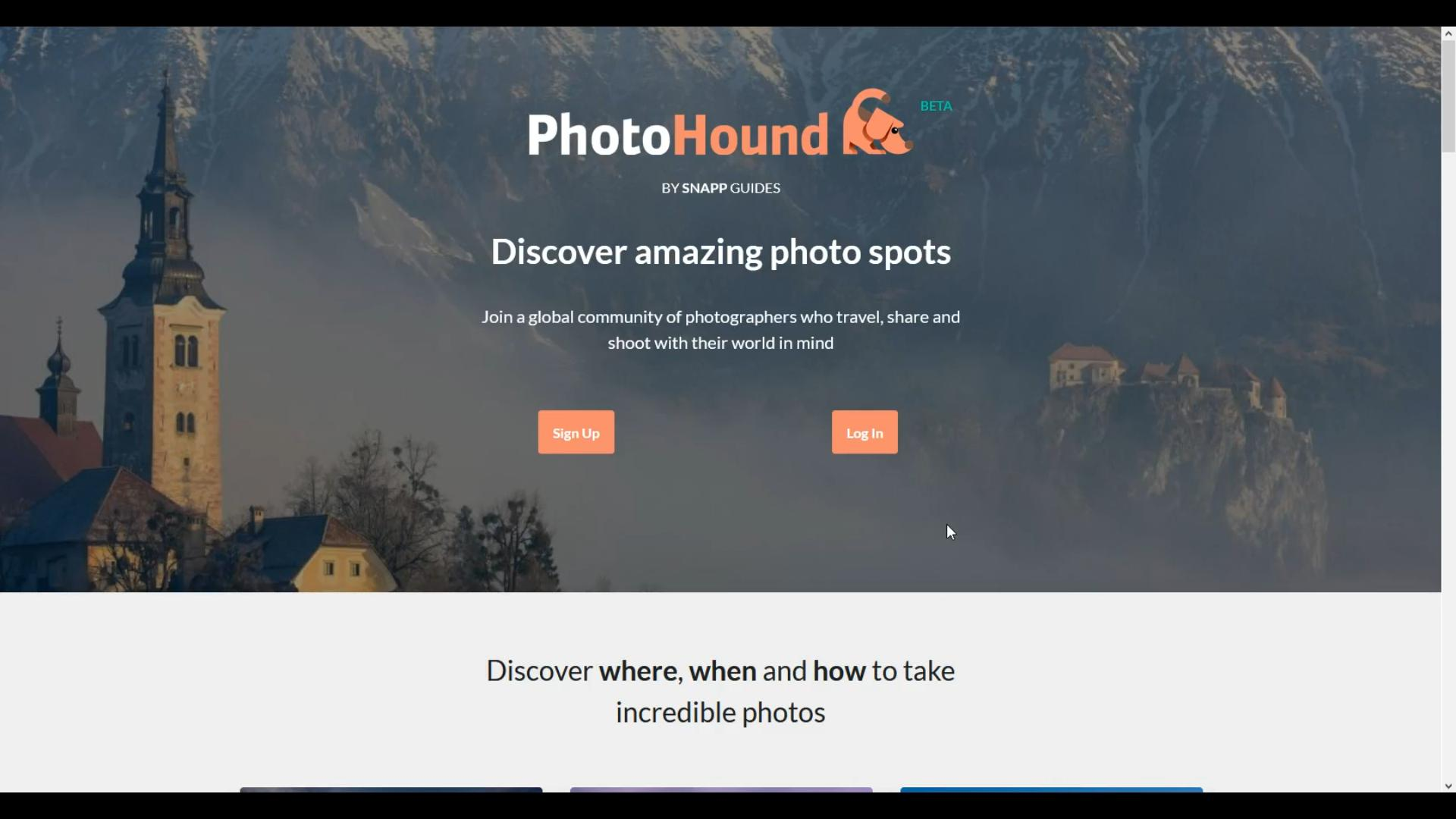 Photohound website