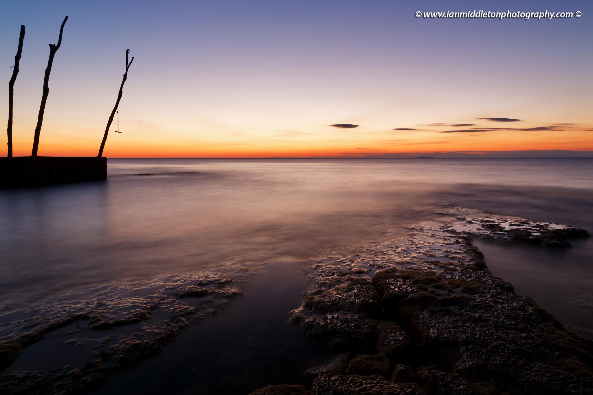 Sunset at basanija, near Savudrija, Istria Coast, Croatia.