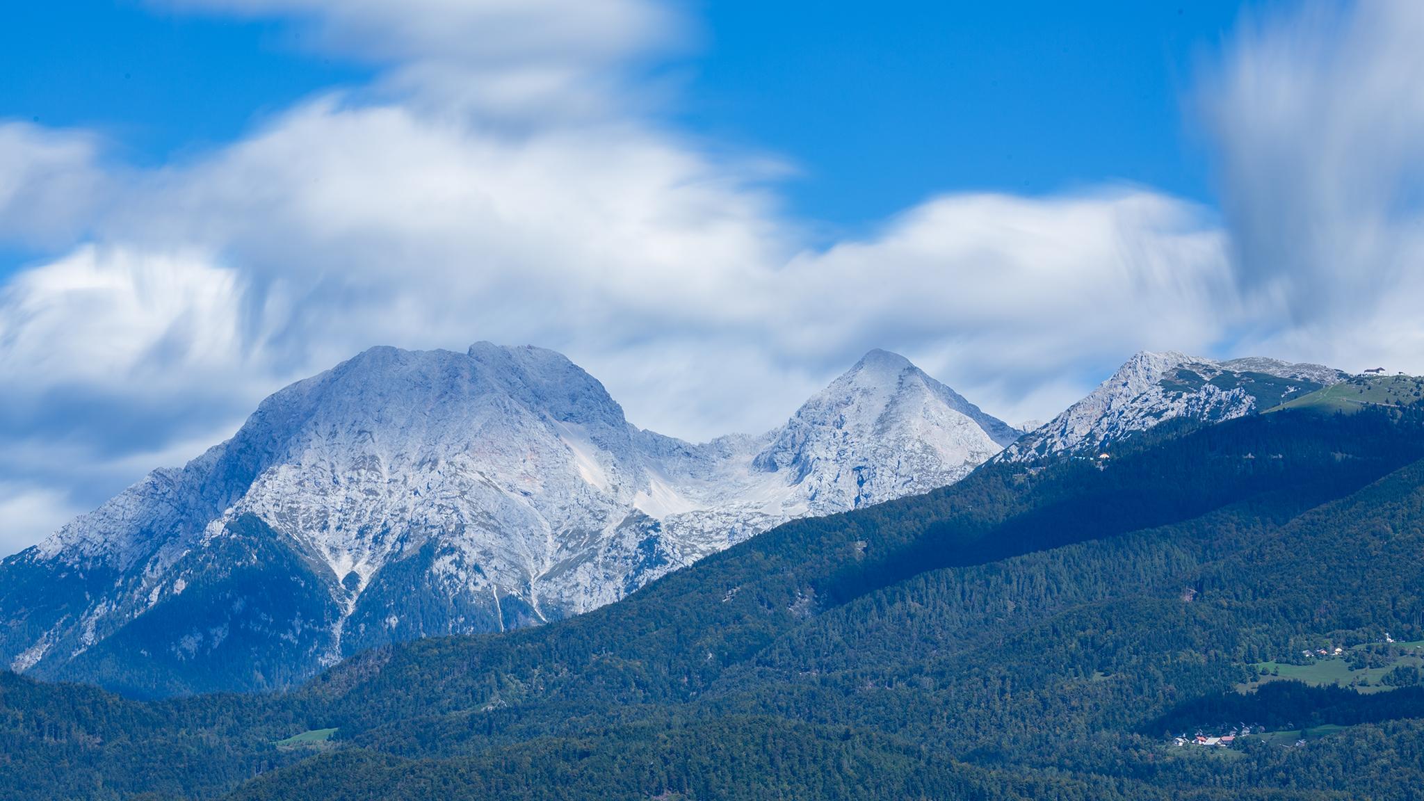 Mt Grintovec, the highest peak in the Kamnik Alps, Slovenia.
