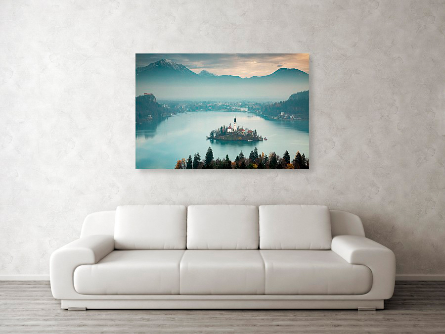 Canvas wall art example of Lake Bled photo