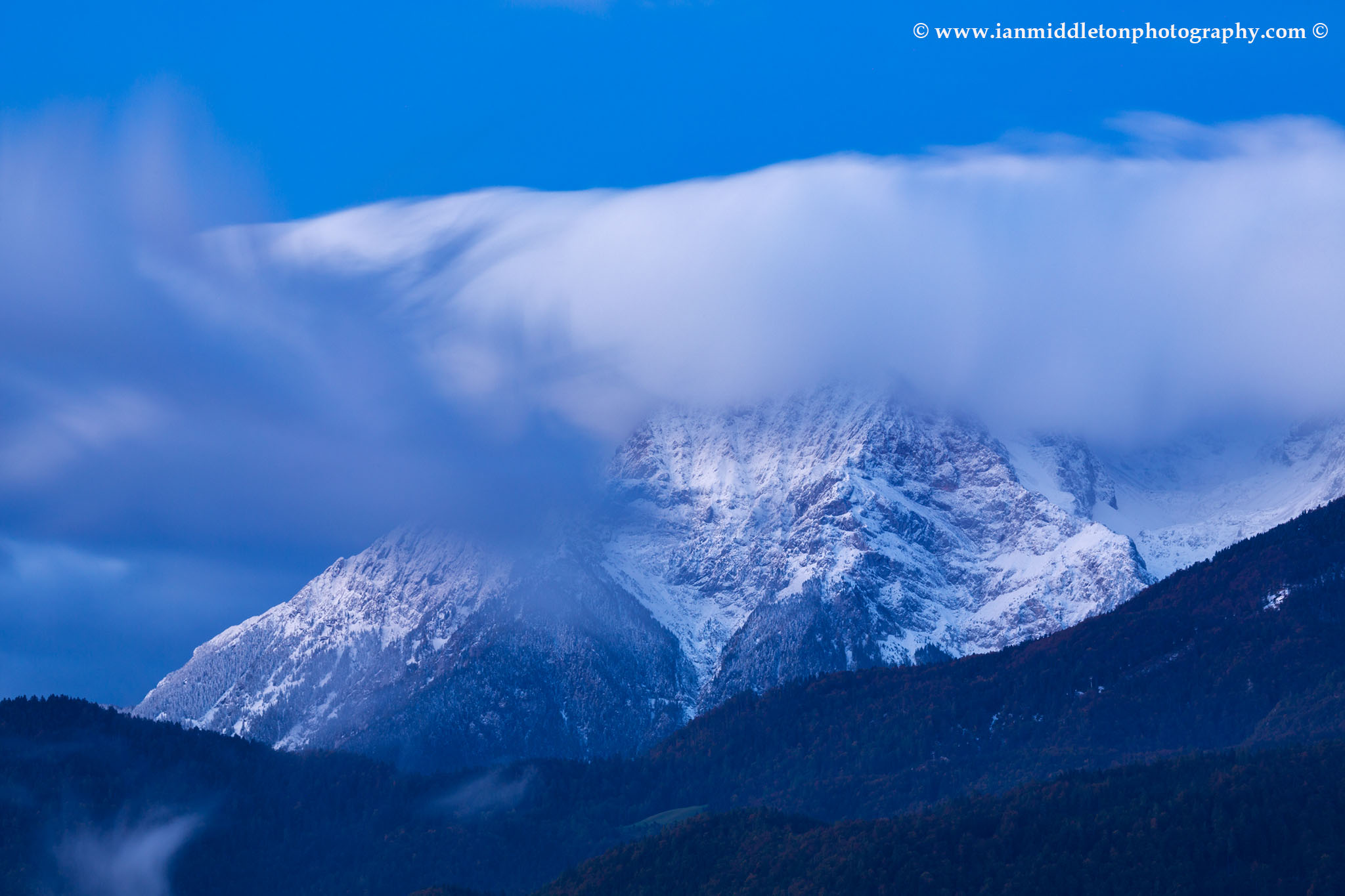 Interesting cloud formation over the Kamnik Alps, Slovenia.