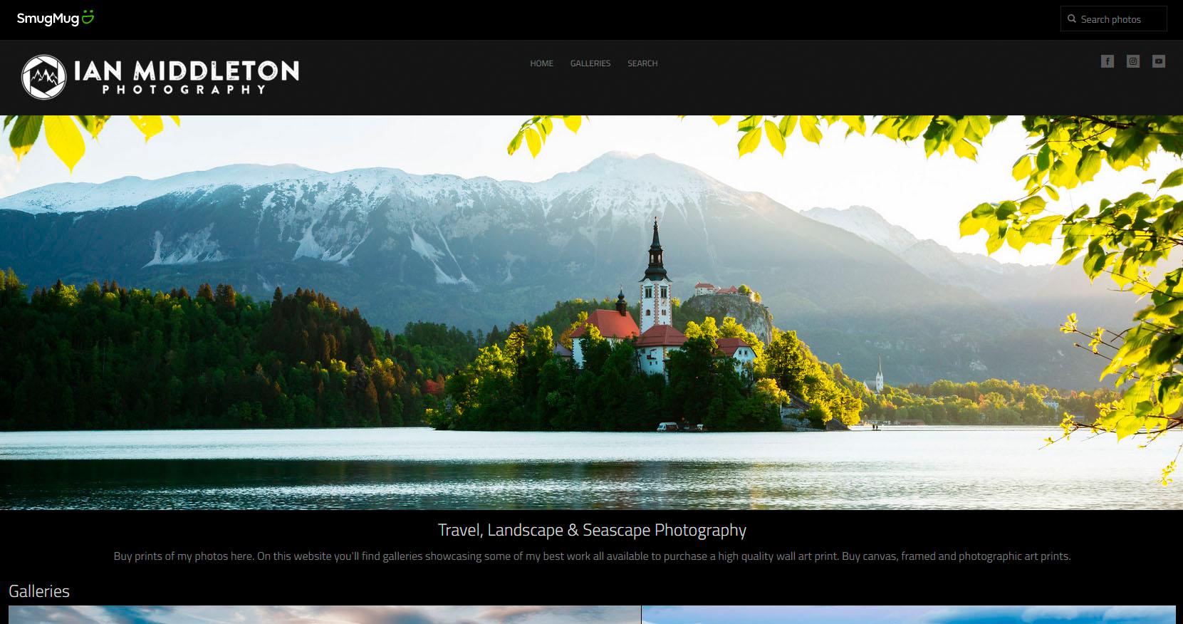 Smugmug photo website example image