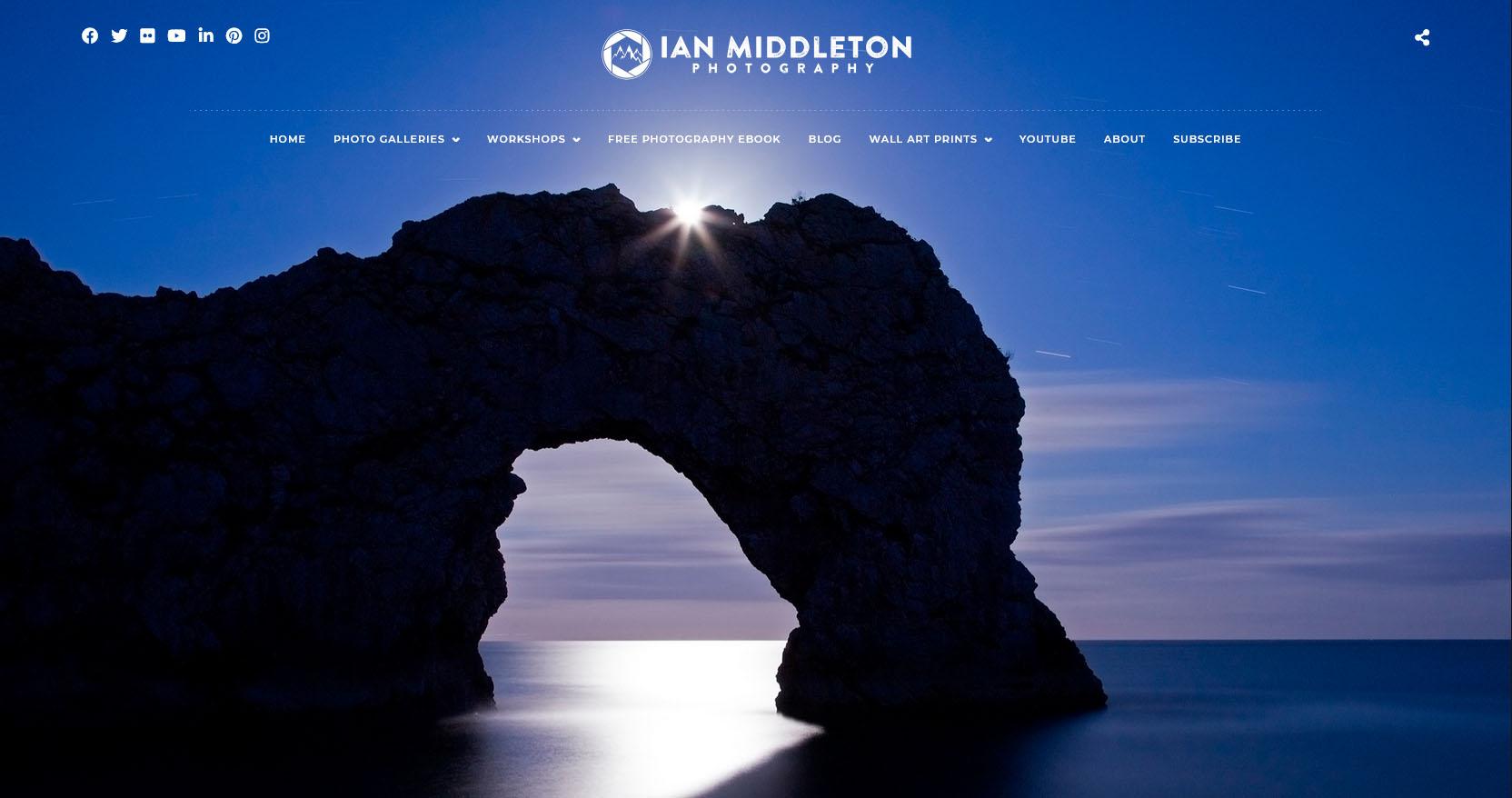 Ian Middleton Photography website